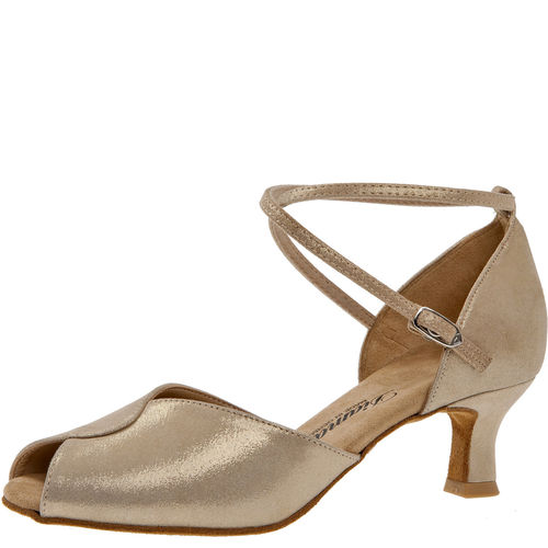 Tanzschuh, Reflex Velourleder, gold, UK 1,5