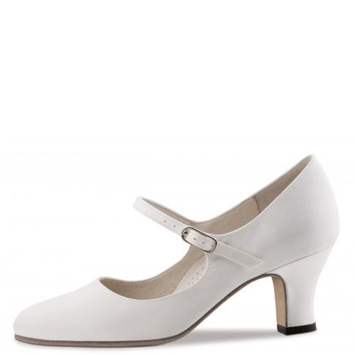 "Brautschuh ""Ashley"", Comfort, Satin, weiß (ivory)"