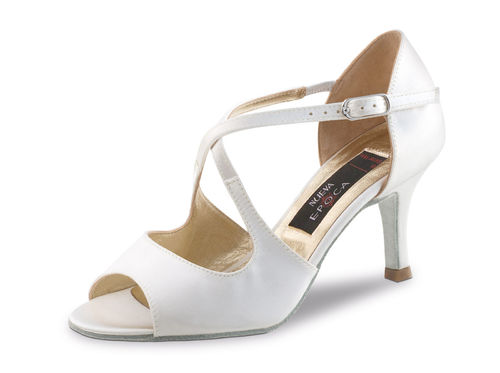 "Tanzschuh, Brautschuh ""Mable"", Satin, weiß (ivory)"